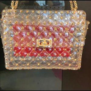 Rockstud clear bag